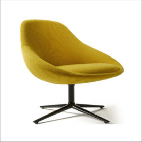 Stylex Cove Series Yellow Fabric Accent Chair
