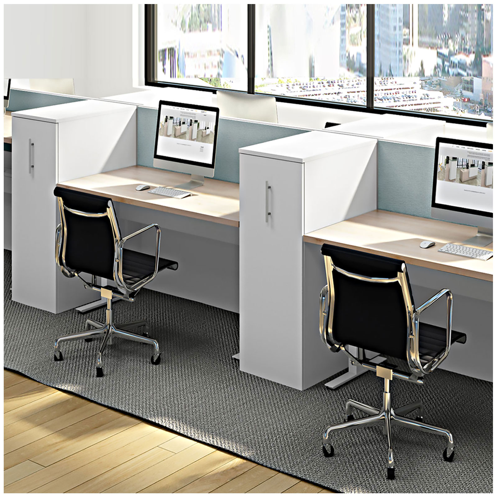 Fine Benching With Storage Towers Trader Boys Office Furniture Download Free Architecture Designs Scobabritishbridgeorg