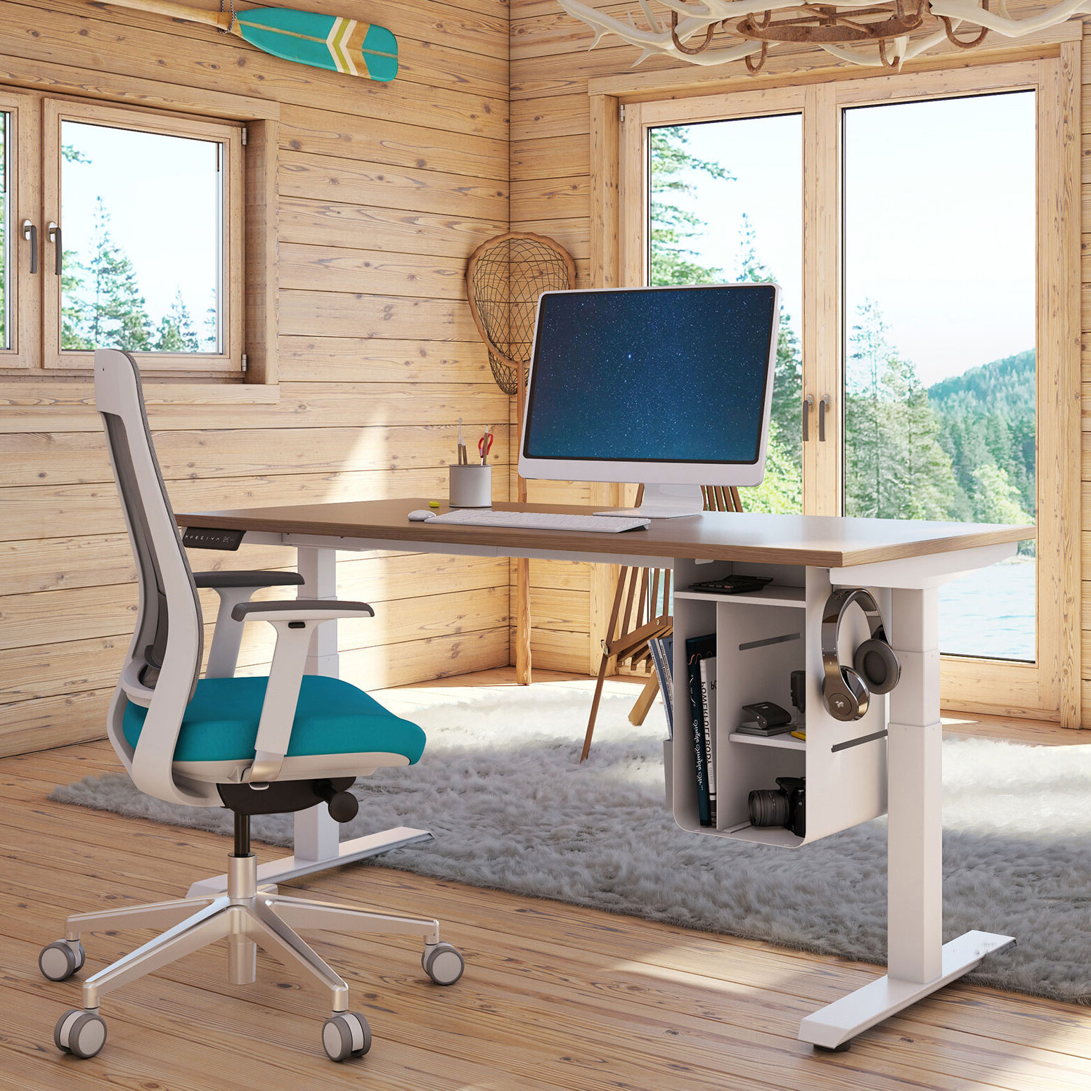 Sit to Stand Office Desk